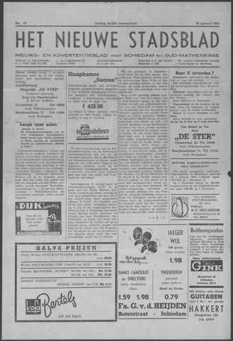 Het Nieuwe Stadsblad 1951-01-19