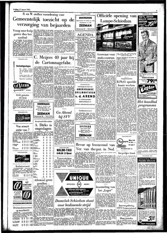 Rotterdamsch Parool / De Schiedammer 1961-03-17