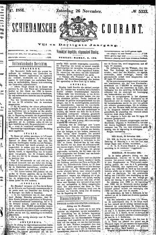 Schiedamsche Courant 1881-11-26