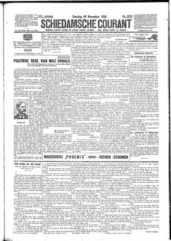 Schiedamsche Courant 1931-11-10