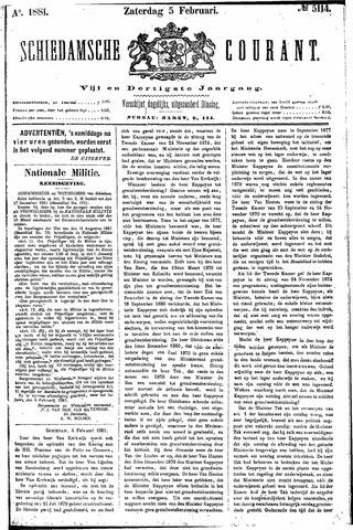 Schiedamsche Courant 1881-02-05