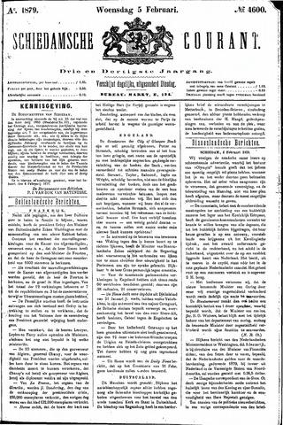 Schiedamsche Courant 1879-02-05
