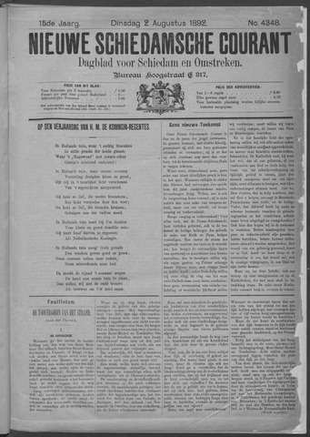 Nieuwe Schiedamsche Courant 1892-08-02
