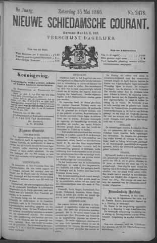 Nieuwe Schiedamsche Courant 1886-05-15