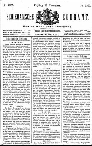 Schiedamsche Courant 1877-11-23