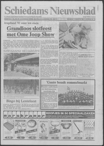 Schiedams Nieuwsblad 1982-08-11