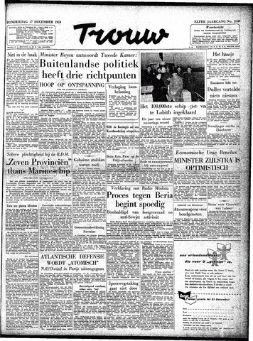 Trouw / De Rotterdammer 1953-12-17