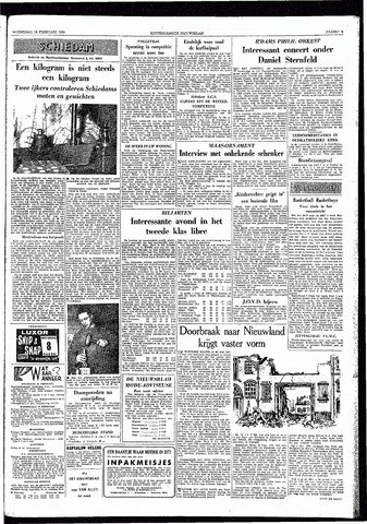 Rotterdamsch Nieuwsblad / Schiedamsche Courant / Rotterdams Dagblad / Waterweg / Algemeen Dagblad 1959-02-18