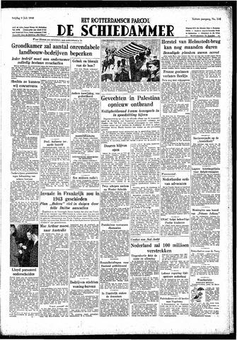 Rotterdamsch Parool / De Schiedammer 1948-07-09