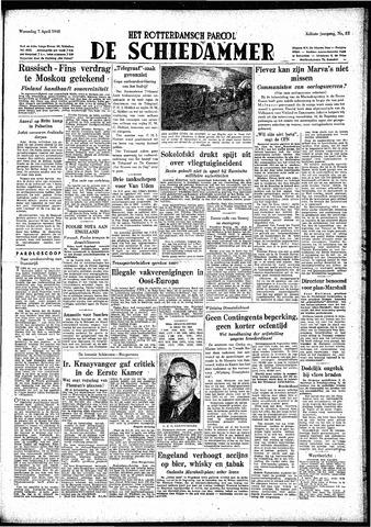 Rotterdamsch Parool / De Schiedammer 1948-04-07