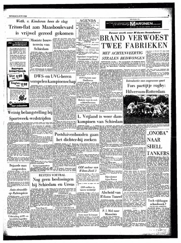 Rotterdamsch Parool / De Schiedammer 1962-06-05