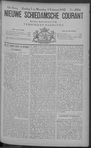 Nieuwe Schiedamsche Courant 1892-02-08