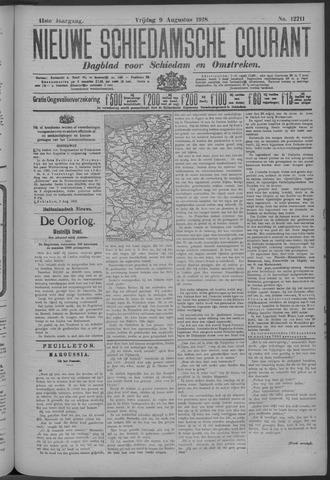 Nieuwe Schiedamsche Courant 1918-08-09