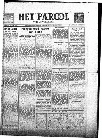 Rotterdamsch Parool / De Schiedammer 1945-06-13