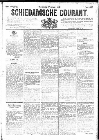 Schiedamsche Courant 1912-01-17