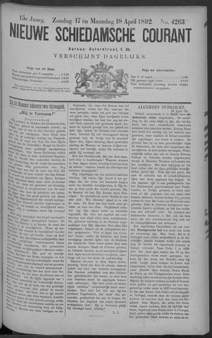 Nieuwe Schiedamsche Courant 1892-04-18