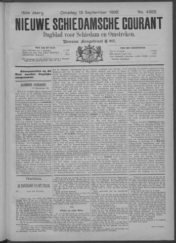 Nieuwe Schiedamsche Courant 1892-09-13