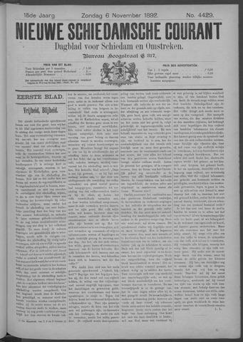 Nieuwe Schiedamsche Courant 1892-11-06
