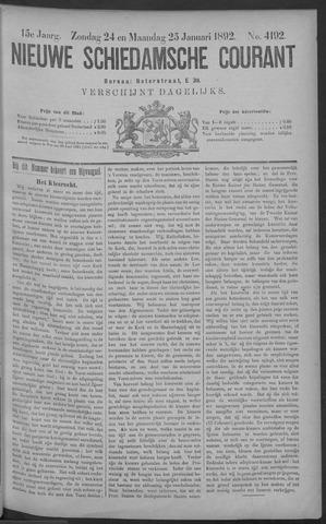 Nieuwe Schiedamsche Courant 1892-01-25