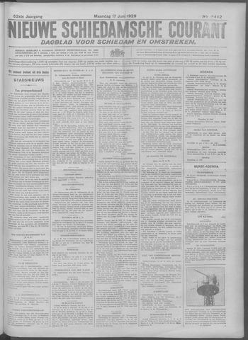 Nieuwe Schiedamsche Courant 1929-06-17