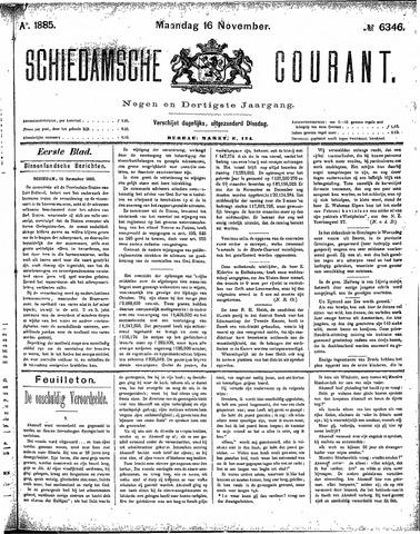 Schiedamsche Courant 1885-11-16