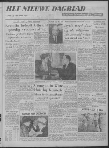 Nieuwe Schiedamsche Courant 1961-10-07