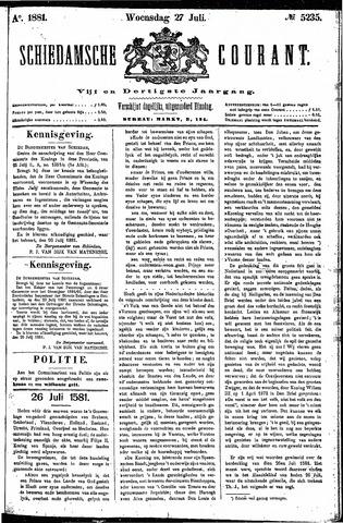 Schiedamsche Courant 1881-07-27