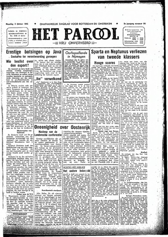 Rotterdamsch Parool / De Schiedammer 1945-10-08
