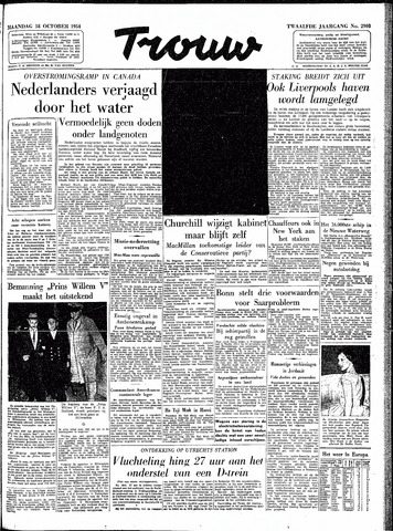 Trouw / De Rotterdammer 1954-10-18