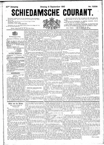 Schiedamsche Courant 1910-09-06