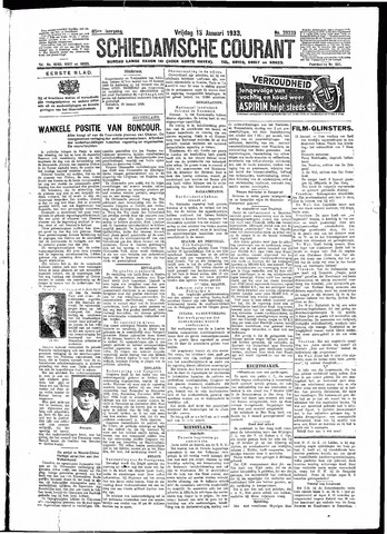 Schiedamsche Courant 1933-01-13