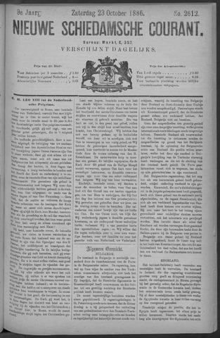 Nieuwe Schiedamsche Courant 1886-10-23