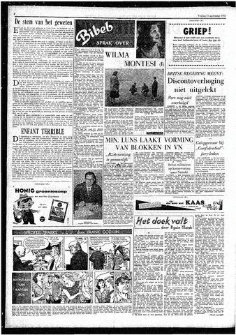 Rotterdamsch Parool / De Schiedammer 1957-09-27