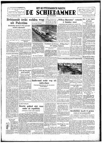 Rotterdamsch Parool / De Schiedammer 1947-09-27