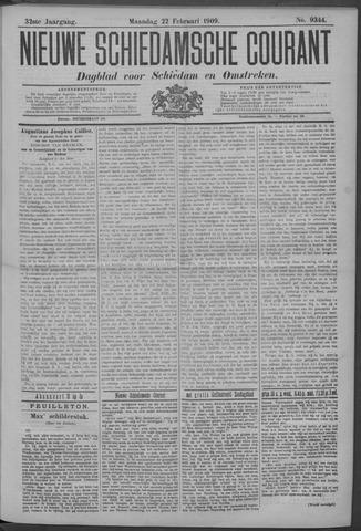 Nieuwe Schiedamsche Courant 1909-02-22