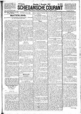 Schiedamsche Courant 1927-11-07