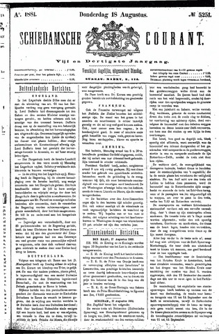 Schiedamsche Courant 1881-08-18