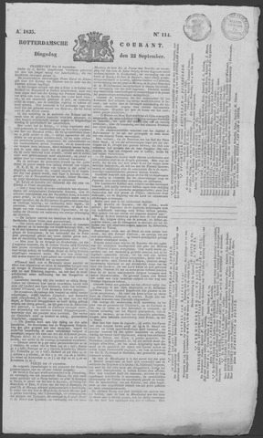 Rotterdamse Courant 1835-09-22