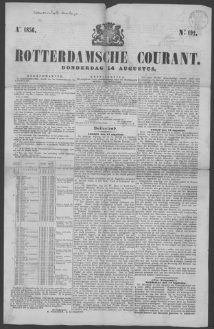 Rotterdamse Courant 1856-08-14