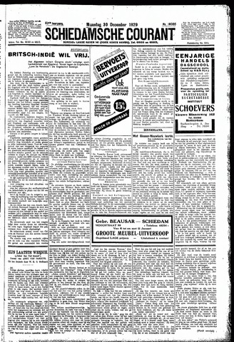 Schiedamsche Courant 1929-12-30