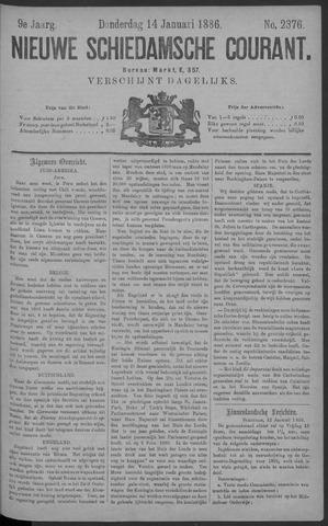 Nieuwe Schiedamsche Courant 1886-01-14
