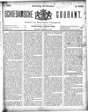 Schiedamsche Courant 1885-10-24
