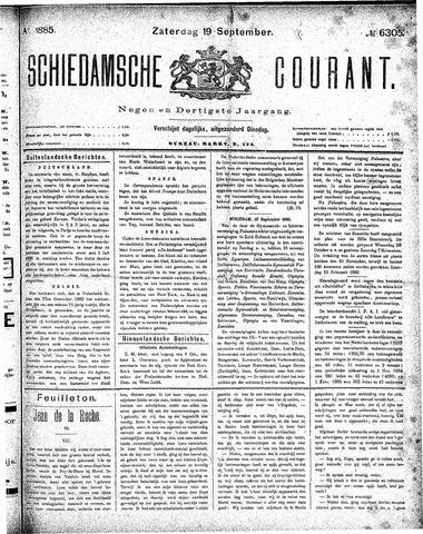 Schiedamsche Courant 1885-09-19