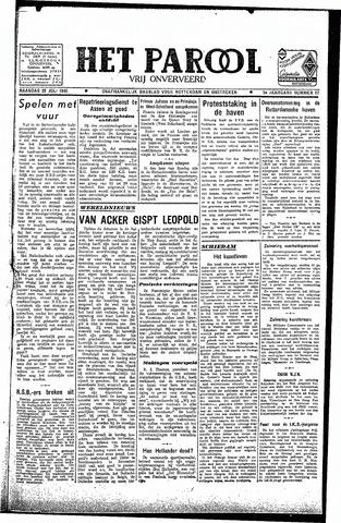 Rotterdamsch Parool / De Schiedammer 1945-07-23