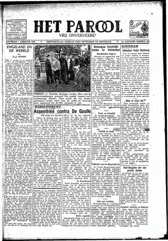 Rotterdamsch Parool / De Schiedammer 1945-08-01