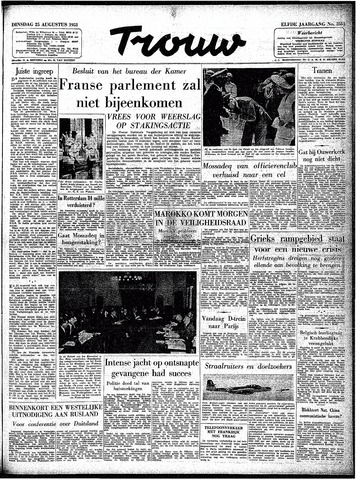 Trouw / De Rotterdammer 1953-08-25