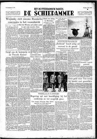 Rotterdamsch Parool / De Schiedammer 1949-07-01