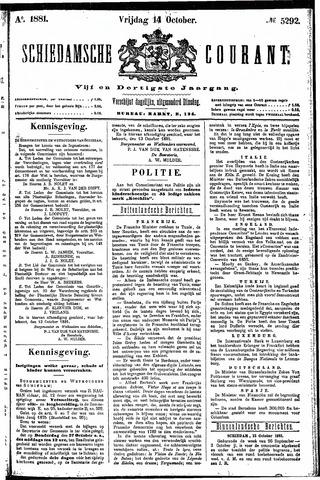 Schiedamsche Courant 1881-10-14