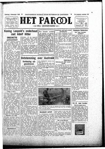 Rotterdamsch Parool / De Schiedammer 1945-11-03