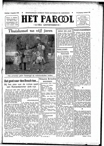 Rotterdamsch Parool / De Schiedammer 1945-08-04
